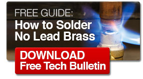 Free guide on how to solder No Lead brass. Free Tech Bulletin Download