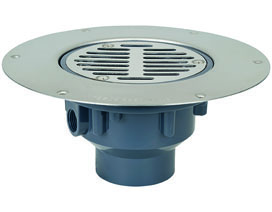 Halo™ Drain Adjustable Floor Drain With Deck Flange Sch. 40 Hub Connection