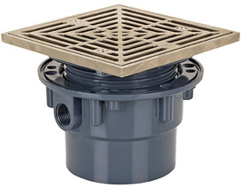 Charming On Grade Adjustable Floor Drain Sch. 40 Hub Connection