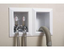 washing machine supply and drain box
